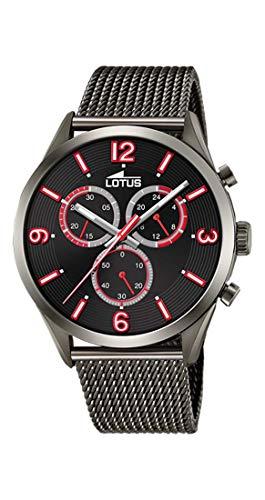 Lotus Herren Chronograph Quarz Uhr mit Edelstahl Armband 18650/3