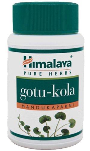 Gotu Kola - Improves Alertness And Provides Calming Effect For Stress And Anxiety - All Natural Nervous System Support - 60 Capsules By Himalaya (Since 1930)