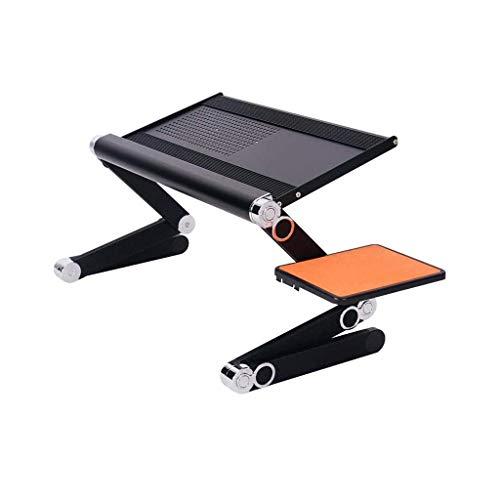 YLCJ Laptop tafel opvouwbare bureau stand draagbare verstelbare stand canap bed stabiel met muis platform (zwart zonder ventilator)