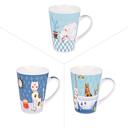 Trend'up - Mug cartoon cat 50 cl (lot de 3)
