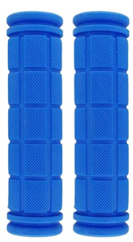 U-JOY Bike Handlebar Grips for Kids Girls Boys, Non-Slip Rubber Mushroom Bicycle Grips for Scooter Cruiser Seadoo Tricycle Wheel Chair Mountain Road Urban Foldable Bike MTB BMX (Sky Blue)