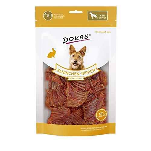 Dokas Kaninchen-Rippen mit Fleisch   7X 100g Hundesnack