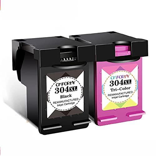 Lsooyys Cartucho de tinta 304XL de repuesto para cartuchos de tinta Hp304 Hp 304 XL 2620 2630 2632 5030 5020 5032 3720 3730 5010 compatibles