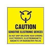 注意の印-敏感な電子デバイス-強い静電の近くで出荷しないし、貯えないで下さい 産業安全の印の警告の印 12 x 12 インチの金属の錫の印 LMH07