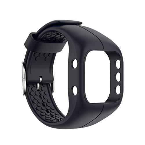 EATAN Team99 - Correa de muñeca ajustable compatible con Polar A300, correa de silicona suave, pulsera de repuesto para deportistas de fitness