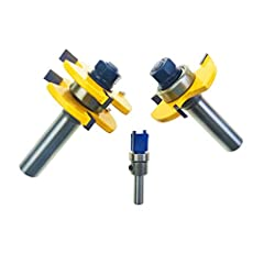 """-Up to 3/4"""" Stock - 1/2"""" Depth - 1/2"""" Shank -Alloy blade with high-grade welding, accurate and neat cut, bring high efficiency to your work. -Great stability, reduce vibration greatly during use. -Works great with woods, MDF, particle board, plywood ..."""