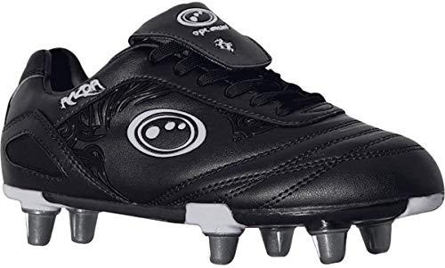 OPTIMUM Razor, Chaussures de Rugby Homme, Argenté (Black/Silver Silver), 42 EU