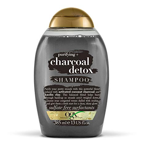 OGX Purifying Charcoal Detox Shampoo, with Coconut Charcoal & Kaolin Clay, 385ml