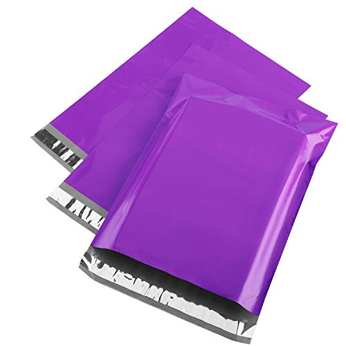 Metronic Purple Poly Mailers 14.5x19 Large Poly Mailers 200 Pack Self-Seal Shipping Bags, Packaging Bags, Shipping Envelopes, Packaging for Small Business, Boutique, Clothing