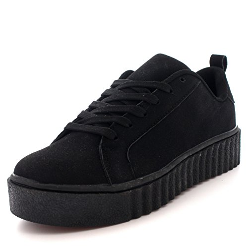Womens Chunky Creepers Platform Lace Up Pompen Schoenen Plimsolls Trainers