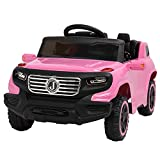 VALUE BOX Electric Remote Control Truck, Kids Toddler Ride On Cars 6V Battery Motorized Vehicles Children's Best Toy Car Safe with 3 Speeds, Music, seat Belts, LED Lights and Realistic Horns (Pink)