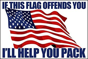 If This Flag Offends You - I'll Help You Pack Sticker (Conservative GOP Anti Left)