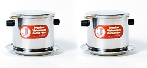 Thang Long 2er Pack Vietnamesischer Kaffee Filter Brewer. Ideal für Reisen und Camping, 325lml groß, Gravity Insert