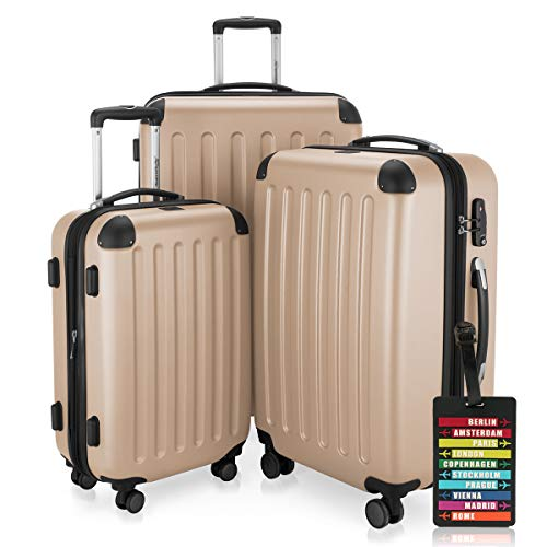 HAUPTSTADTKOFFER® Set di valigie · (49.0;82.0;128.0 liters) · TSA BLOCCO · GIALLO