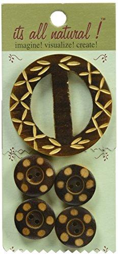 Vision Wieldoppen gesneden circles handwerk houten gesp en toetsen, 5 stuks