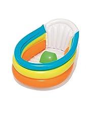 BESTWAY Squeaky Clean 51134 Opblaasbare badkuip met thermometer, meerkleurig, 76 x 48 x 33 cm