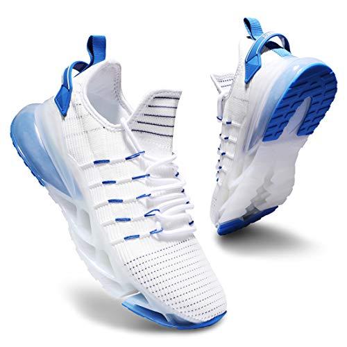 Deevike Basket Femme Chaussure Femme Chaussure de sécurité Femmes Chaussures de Sport Blanc Bleu-40