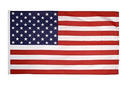 Flaggenfritze Flagge USA Amerika, amerikanische Fahne mit Metallösen 90 x 150 cm+ gratis Sticker