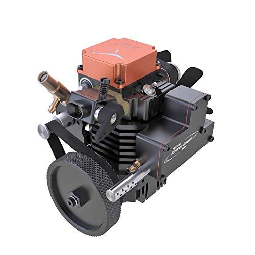 Loads Toyan Viertaktmotor Bausatz, Toyan FS-S100A, Einzylinder Methanol Engine Kit, Motor Generator Modell Set für 1:10 1:12 1:14 RC Auto Boot Flugzeug