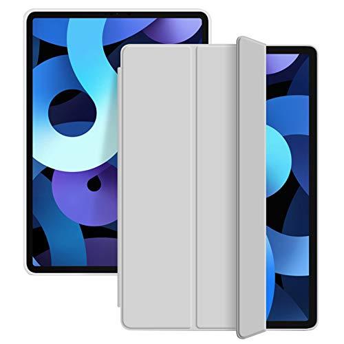 ZOYU Custodia per iPad Air 4 10.9 Pollici Custodia, Supporto a Tre Ante Sottile e Leggero Cover Morbida in TPU,Auto Sveglia Sonno per 10.9  iPad Air 4a Generazione 2020 (Grigio)