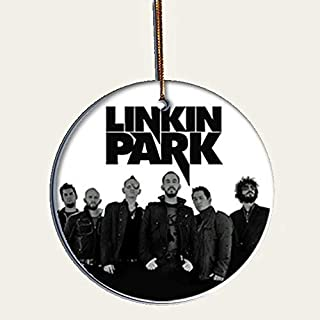 Handmade by Senor Swag ~Linkin Park Collectible Christmas Ornament ~ Porcelain Disc. HD Printed Both Sides ~ Includes Gift Box
