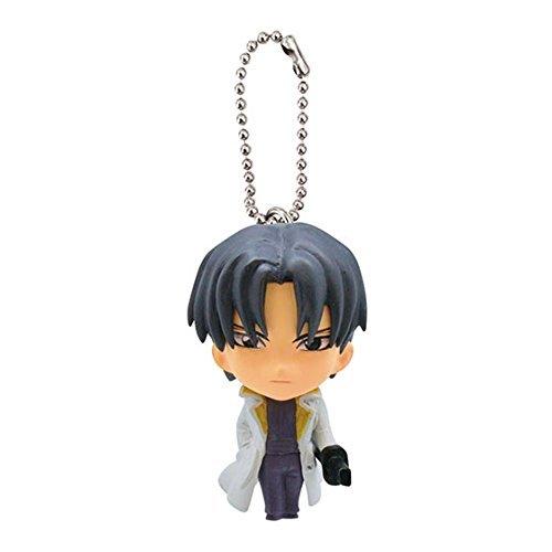 Rurouni Kenshin Figure Swing Keychain~shinomori Aoshi