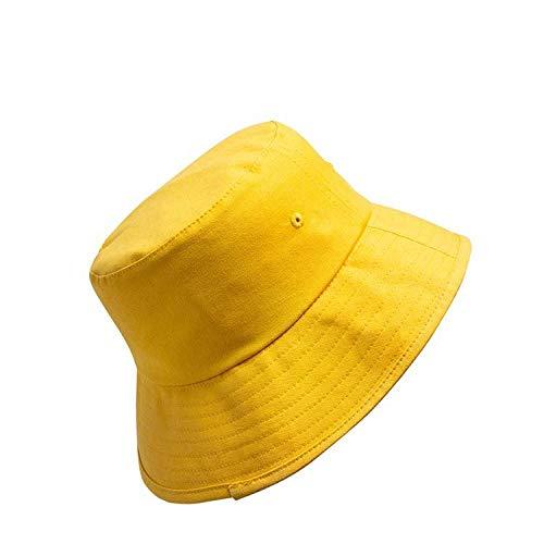 Sombrero de Pescador unisexSombrero de Pescador Unisex, Sombrero de ala Grande para Exteriores, protección Solar, Lavabo, sombrilla, Sombrero de Pescador-Amarillo_M (56-58cm)