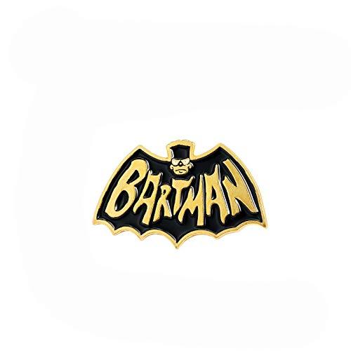 Pin Black Gold Bat Badge Gothic Hero TV Series Bijoux Broches personnalisées Lapel Pin for Friends Cadeaux