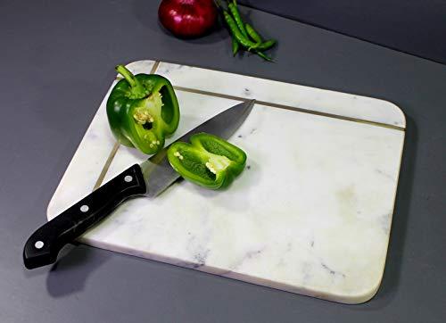 KLEO faite à la main en forme de rectangle Blanc en marbre - Planche à découper Planche à fromage Plateau à Fromage appareil de cuisine Vin Service anniversaire anniversaire Cadeau de l'entreprise - Marble Chopping Board