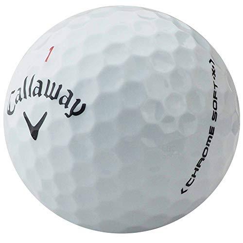 lbc-sports Callaway Chrome Soft X Golfbälle - AAAAA - PremiumSelection - Weiss - Lakeballs - Keine Logos - Keine Spielermarkierungen - gebrauchte Golfbälle (50 Bälle)