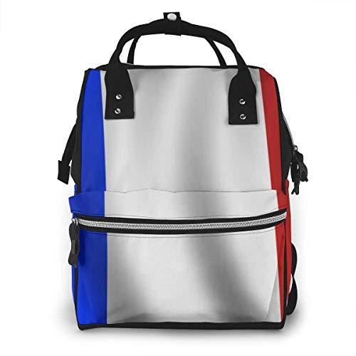Franse vlag luiertas mode waterdichte multi-functie reizen rugzak grote luierzakken mama rugzak voor babyverzorging
