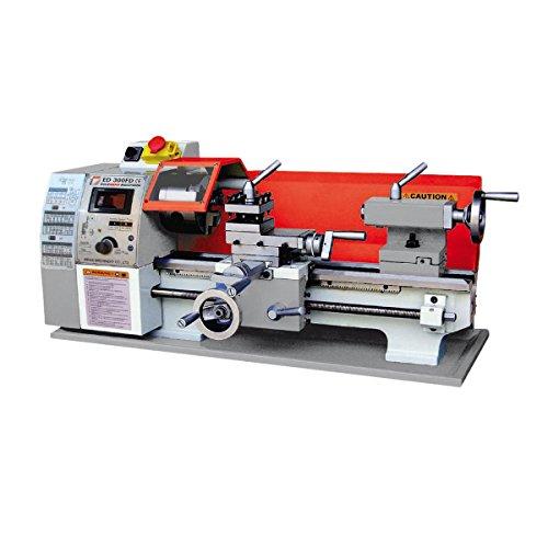 Holzman - mod. ED300FD65S - Tornio per metallo, con variatore di velocità, per torniatura conica, tensione: 230 V, potenza: 0,63 kW