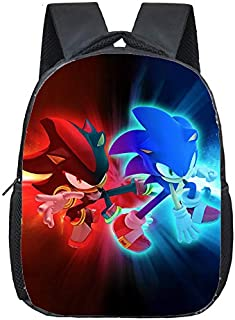 Bolsa de Sonic Super Sonic Shadow Mochila Niños Escuela Bolsas Niños Niñas Mochila De Jardín De Infantes Primaria Dibujos Animados Mario Yoshi Imprimir Bolsas Pequeñas