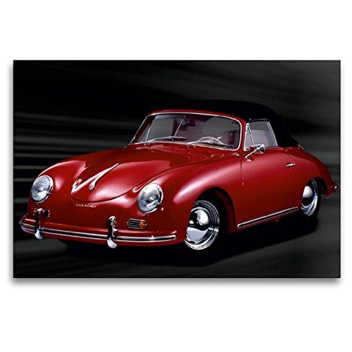 Premium Textil-Leinwand 120 x 80 cm Quer-Format Porsche 356 A - Bj. 1959 | Wandbild, HD-Bild auf Keilrahmen, Fertigbild auf hochwertigem Vlies, Leinwanddruck von Wolf Kloss