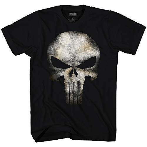 T-shirt Punisher Skull No Sweat Marvel Universe maglia teschio Uomo ufficiale (XL)