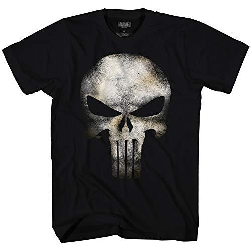 Marvel T-Shirt Punisher Skull No Sweat Universe Maglia Teschio Uomo Ufficiale (L)