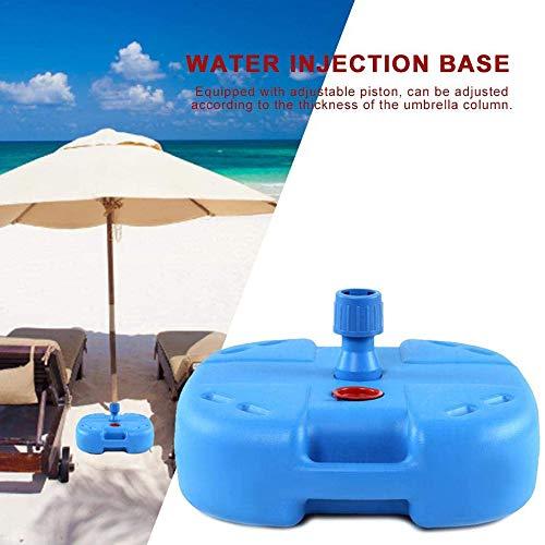 ZLRE Sombrilla de plástico, Sombrilla de jardín Llena de Agua/Arena, Sombrilla de Playa Sombrilla de Playa Cuadrada, Resistente