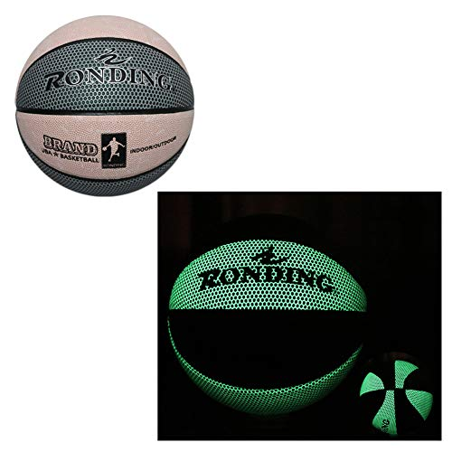 Fantastic Deal! ANBAI Basketball Ball, Fluorescent Bright After Sun Shine,Pu Glow in The Dark Basket...