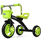 Product Image of the INFANS Kids Tricycle Rider with Adjustable Seat, Storage Basket, Premium Quiet...