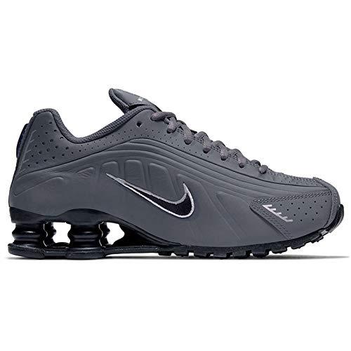 Nike Shox R4 GS Running Trainers CU1721 Sneakers Scarpe (UK 5.5 us 6Y EU 38.5, Dark Grey Black 001)