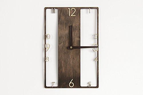 Moderne, hölzern Uhr - rustikale Wanduhr - rustikales Interieur – Hölzerne Wanduhr – Wanduhr - moderne Uhr - Hölzerne Uhr – Uhr aus Holz - Modernes Interieur