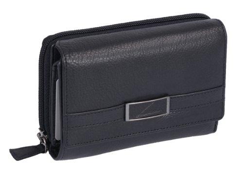 LEMONDO Damenbörse LEMONDO in Echt-Leder, schwarz 14,5x10cm