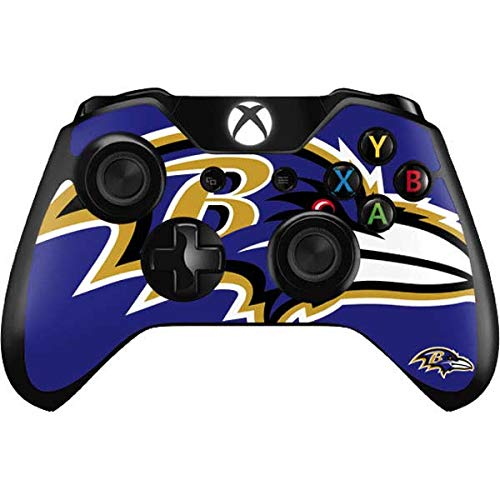 Skinit Decal Gaming Skin Compatible with Xbox One Controller - Officially Licensed NFL Baltimore Ravens Large Logo Design