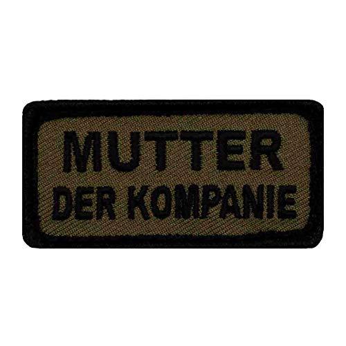 Café Viereck ® Fun B&eswehr Patch Gestickt mit Klett – 6 cm x 3 cm