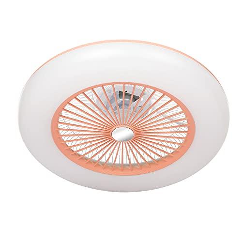IKAYAAA Ventilador de Techo con iluminación Luz LED 180V-265V con aplicación Soporte de Control de teléfono móvil Conexión BT para Dormitorio Sala de Estar Comedor