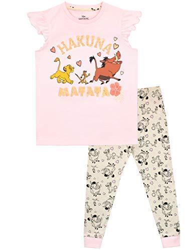 Disney Pijamas de Manga Corta para niñas The Lion King Rosa 3-4 Años