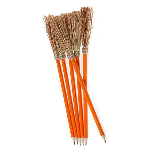 6 Bleistift Besen orange