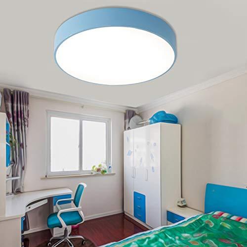 Minimalista Moderno Color Redondo LED Protección Para Los Ojos Acrílico Lámpara De Techo De Bajo Consumo De Energía Habitación Para Niños Dormitorio Luz Corredor Yang1mn (Color : Blue)