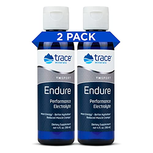 Trace Minerals – Endure (2-Pack  Total 8oz) | Sugar-Free Electrolyte Supplement for Peak Performance  Maximum Hydration & Energy | Balanced with Magnesium  Potassium Chloride  Ionic Trace Minerals