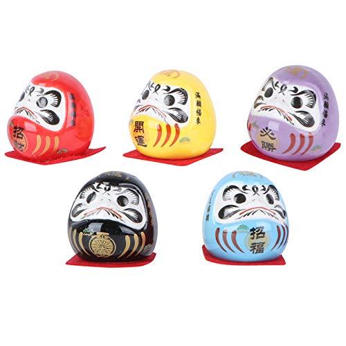 VALICLUD 5 unidades en miniatura Daruma de muñeca japonesa de buena suerte, encanto tradicional de...